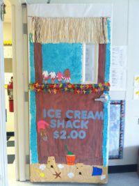 Ice cream stand-Summer Door | Classroom door decorating ...