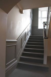 entrance and stairs beaded panelling   New Home Ideas ...