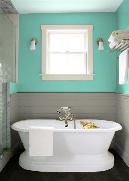 Teal And Bathroom Grey Decor
