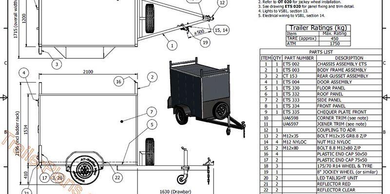 www.trailerplans.com.au Build your own ENCLOSED TRAILER