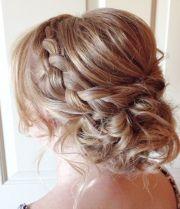 messy braided updo wedding