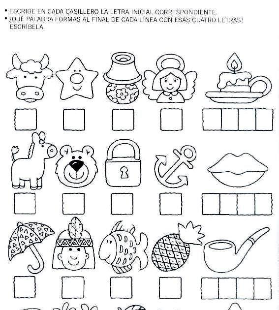 Ficha de las letras para infantil Esta ficha para infantil