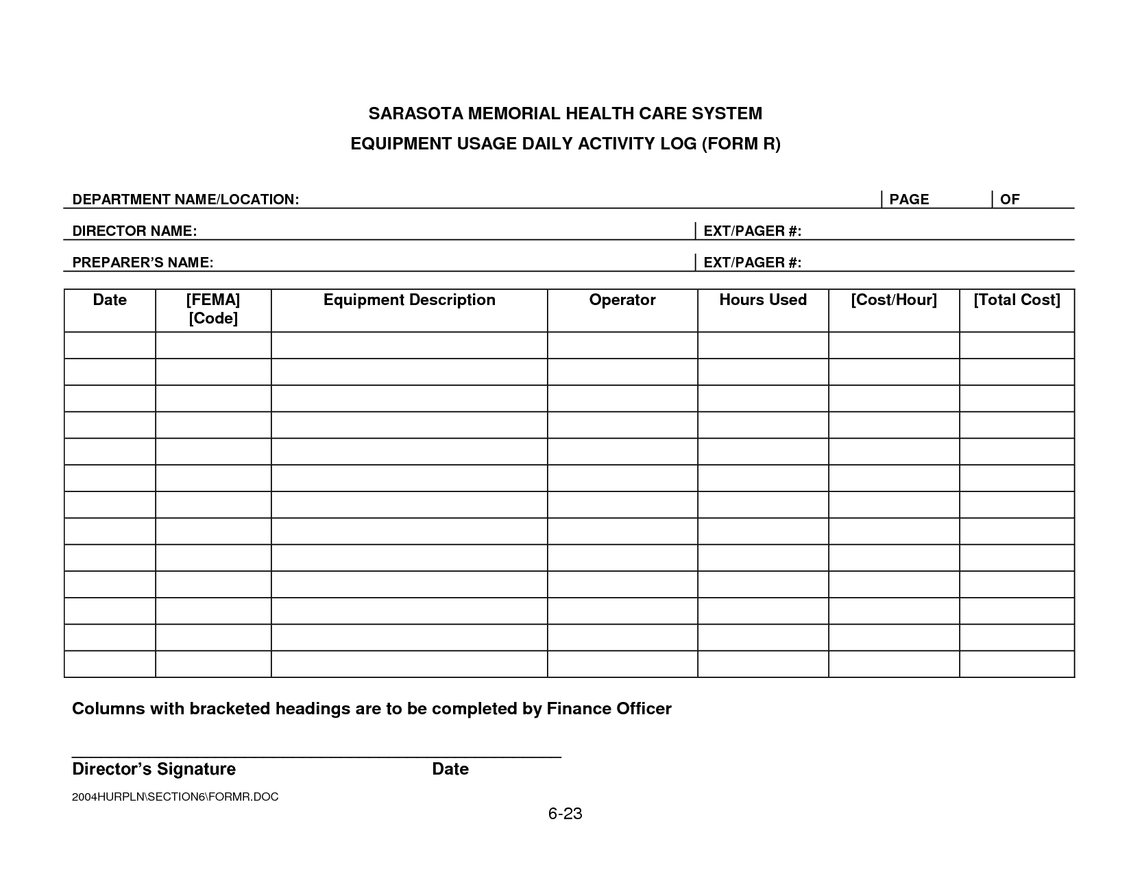 Fema Project Worksheet Forms