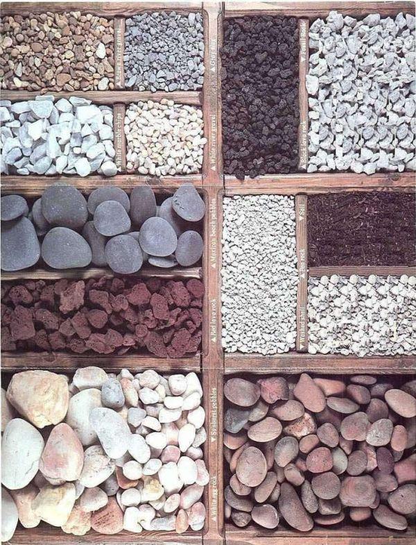 types of stone mulch gardening