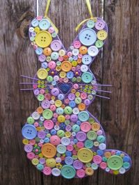 Button Easter Bunny - Easter Decoration - Spring Door ...