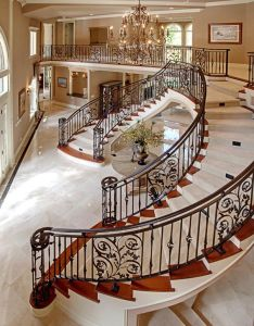 Interiors luxury homes beautiful also elegant stairs and balustrades this is rh pinterest