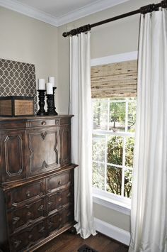 how high above window to hang curtains