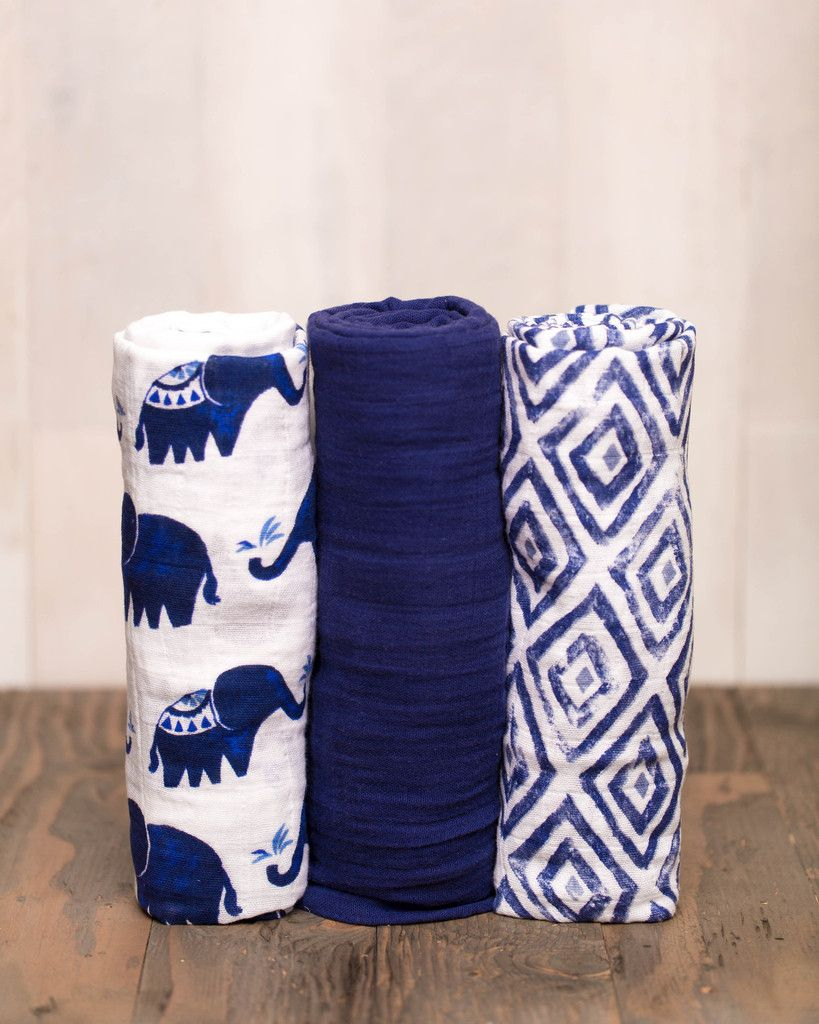 Cotton Swaddle Set – Indie Elephant – Pre-order now!
