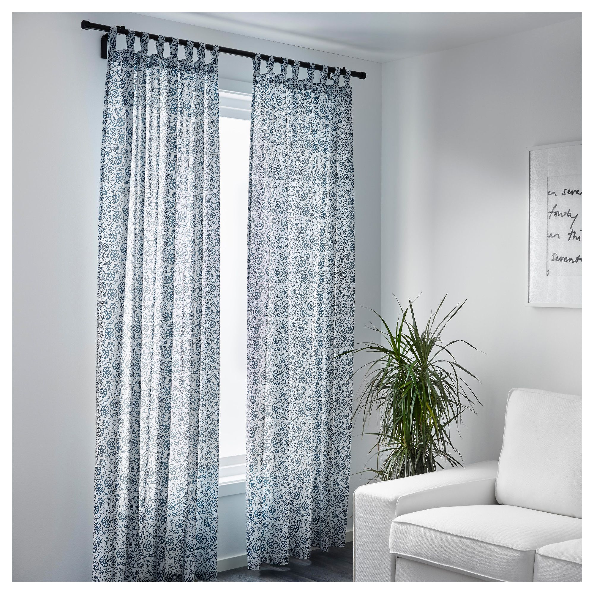 I think these Ikea MJLKRT curtains would look nice in my