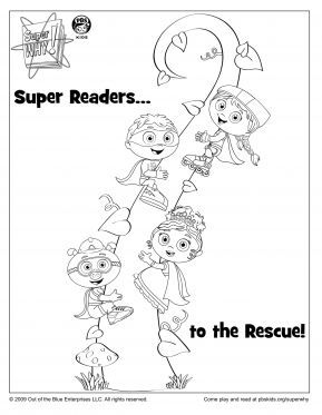 Super Why Beanstalk Coloring Page