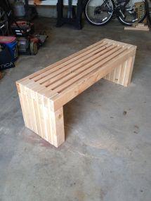 DIY 2X4 Outdoor Bench Plans Wood