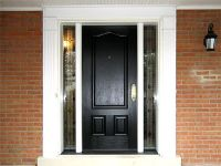 Black Entry Doors | Custom Sized Provia Signet Fiberglass ...