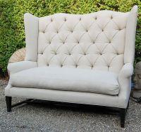 Wingback Loveseat Sofa Furniture Of America Allier Tufted ...