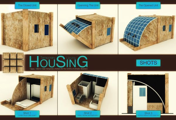 Temporary Housing Units Shelters Oriented Strand Board And Cubes