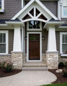 exterior house porch ideas with stone columns also rh pinterest