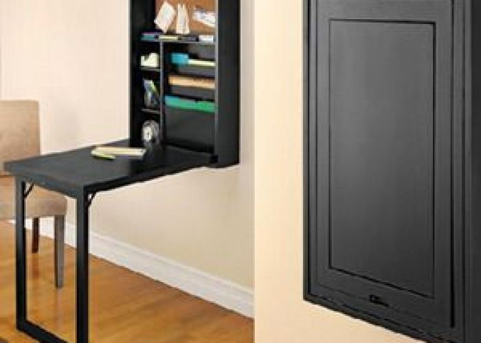 This fold out convertible desk that closes into  wall cabinet is just what you need the murphy bed of desks also short on space but dedicated office area in your home
