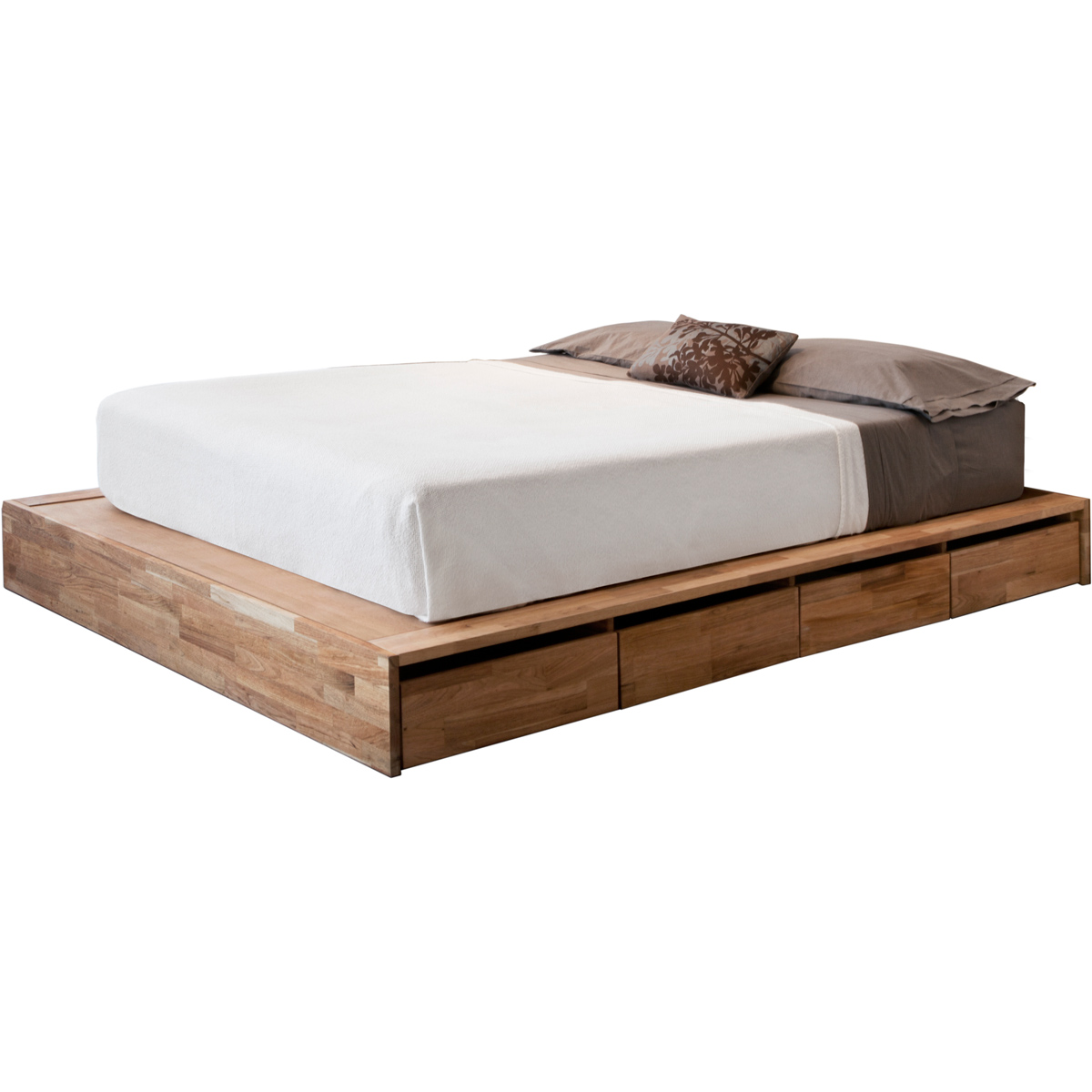 Contemporary Bedroom with Ikea Low Platform Bed Solid