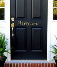Welcome Door Decal, Welcome Sign, Vinyl Lettering, Welcome ...