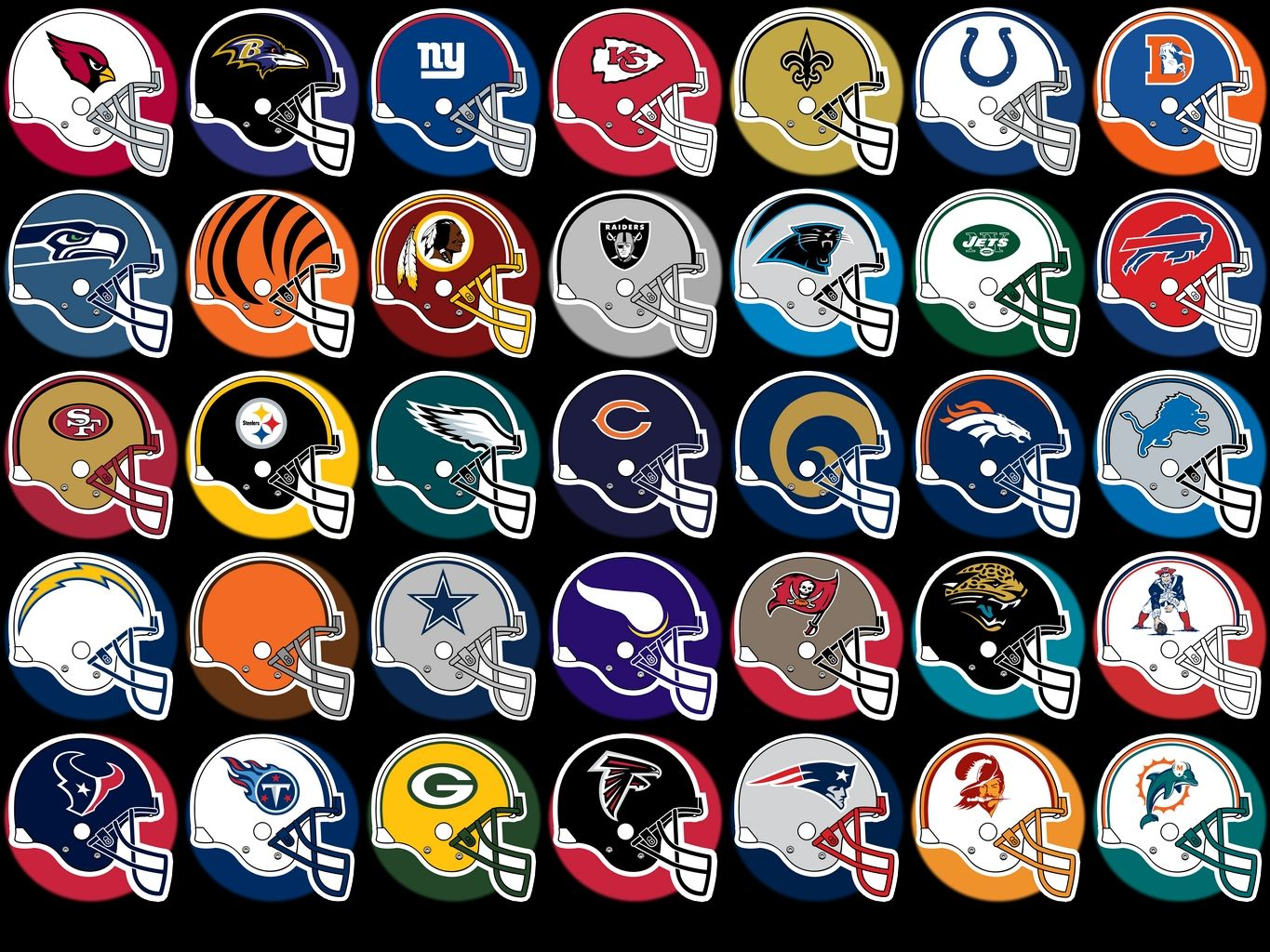 Resultado de imagem para all american football nfl teams logos with names