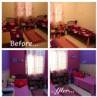 I transformed my kids bedroom from a boring, simple plain ...