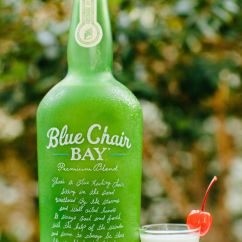Blue Chair Rum Tobias Clear Chrome Plated Tootsie Roll Shooter 5 Oz Bay Key Lime