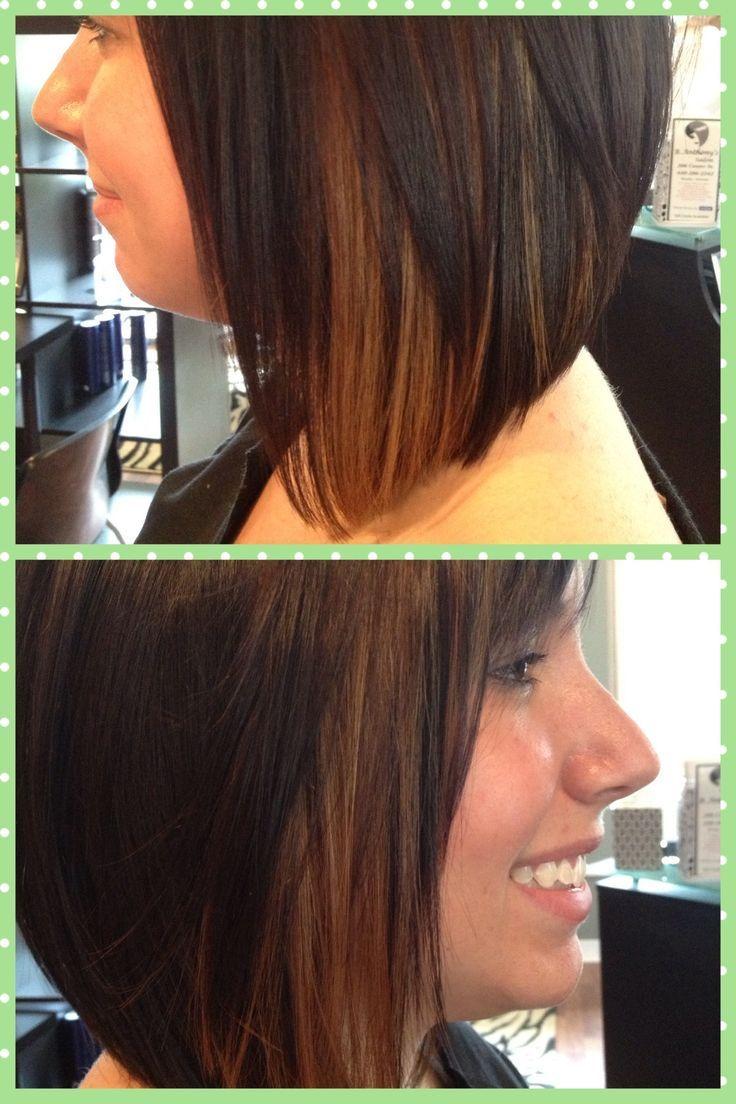 Short Dark Brown Hair With Caramel Highlights Google Search
