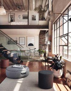 Decor pe direito duplo industrial design homesindustrial interiorsindustrial also lofts apartment ideas and loft rh pinterest