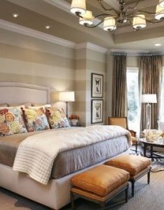 master bedroom design ideas in romantic style love that stripe on the wall also painting interior pinterest rh