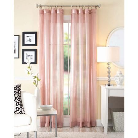 Better Homes And Gardens Shimmer Sheer Curtain Panel Walmart Com
