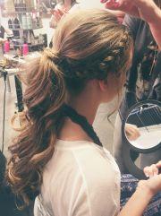 formal ponytail hair