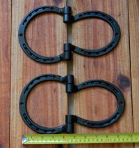Hinges, horseshoes for shed, barn doors, gate, corral ...