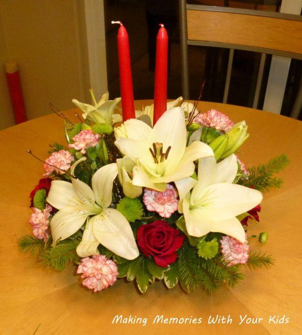Christmas Table Flower Centerpiece