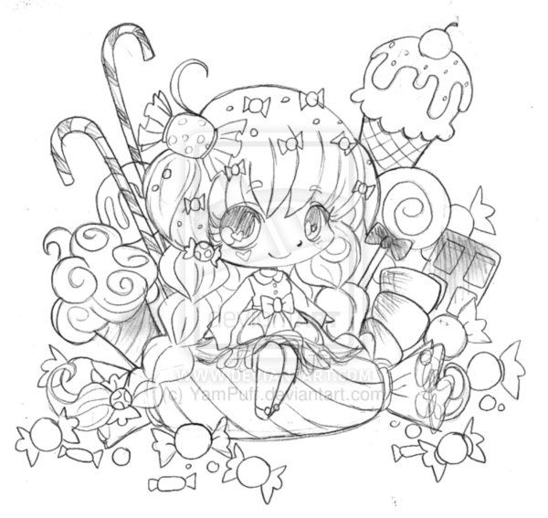 Yampuff Food Chibi Coloring Pages Of Sketch Coloring Page Auto