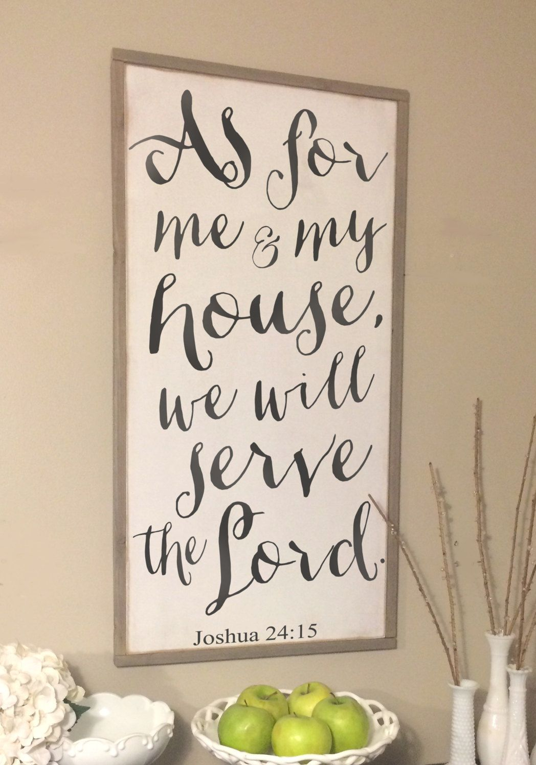 As for me and my house we will serve the lord framed wood sign also joshua rh pinterest