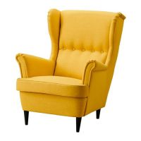 STRANDMON Wing chair - Skiftebo yellow - IKEA turned into ...
