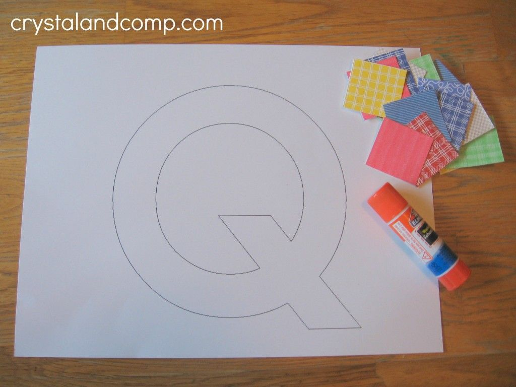 Letter Of Week Preschool Craft Q Is For Quilt