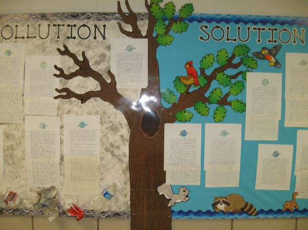 Bulletin Board Earth Day. Used Ctp' Black Dot