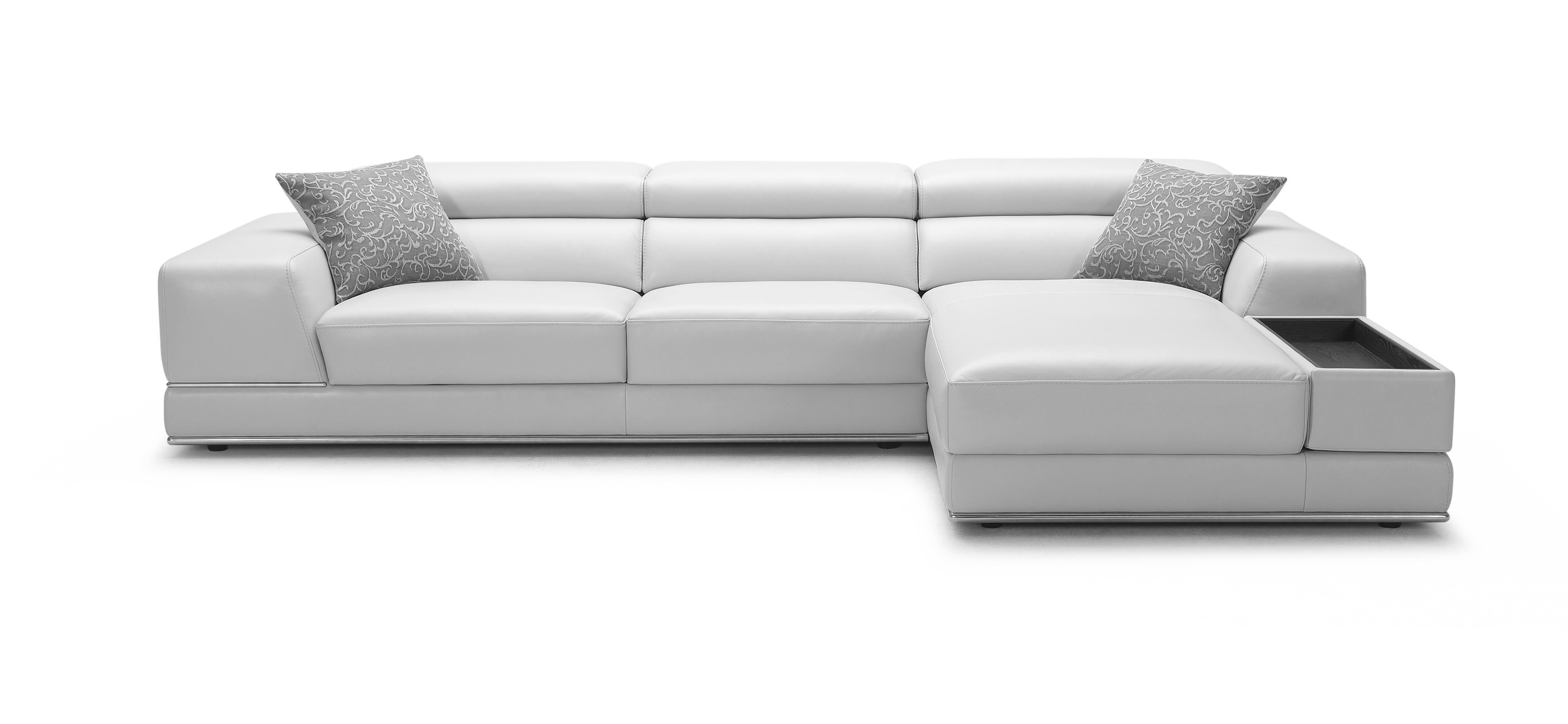 bergamo sectional leather modern sofa gray poundex bobkona ottoman unique everett wa sofas