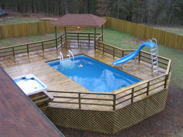Square Above Ground Pool Patio - Year of Clean Water