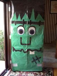 Frankenstein door decoration | Halloween | Pinterest ...