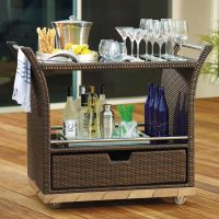 outdoor serving table with storage   Outdoor Serving Cart ...