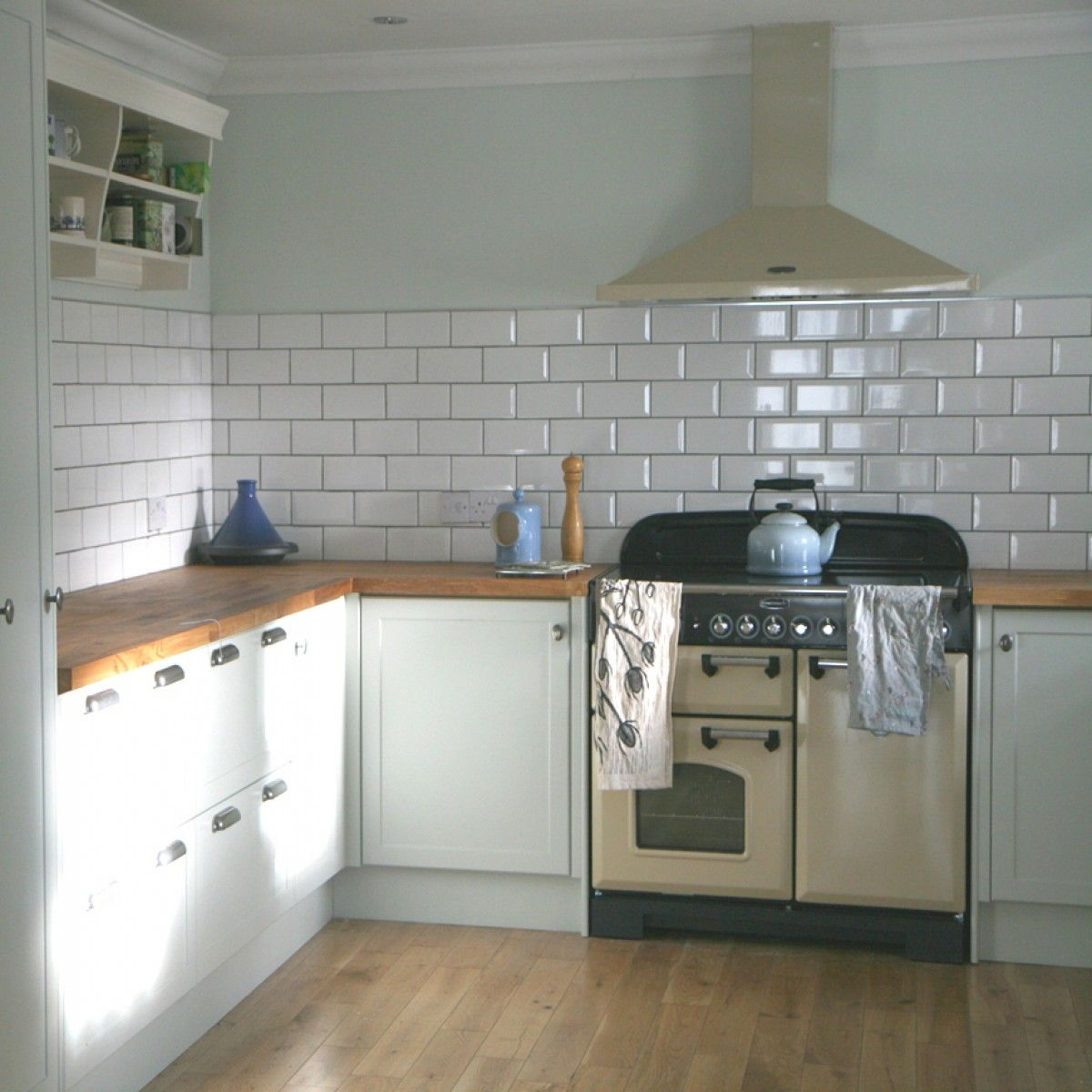 white subway tile in modern kitchen  Google Search