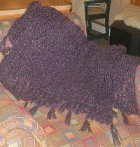 Purple Shawl Scarf Purple Long Loom 2 skeins yarn | Knifty ...