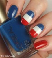 nail art bleu blanc rouge les