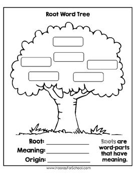 Greek and Latin Roots: Root Word Tree Graphic Organizer