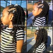 front cornrows and 2 strand twists