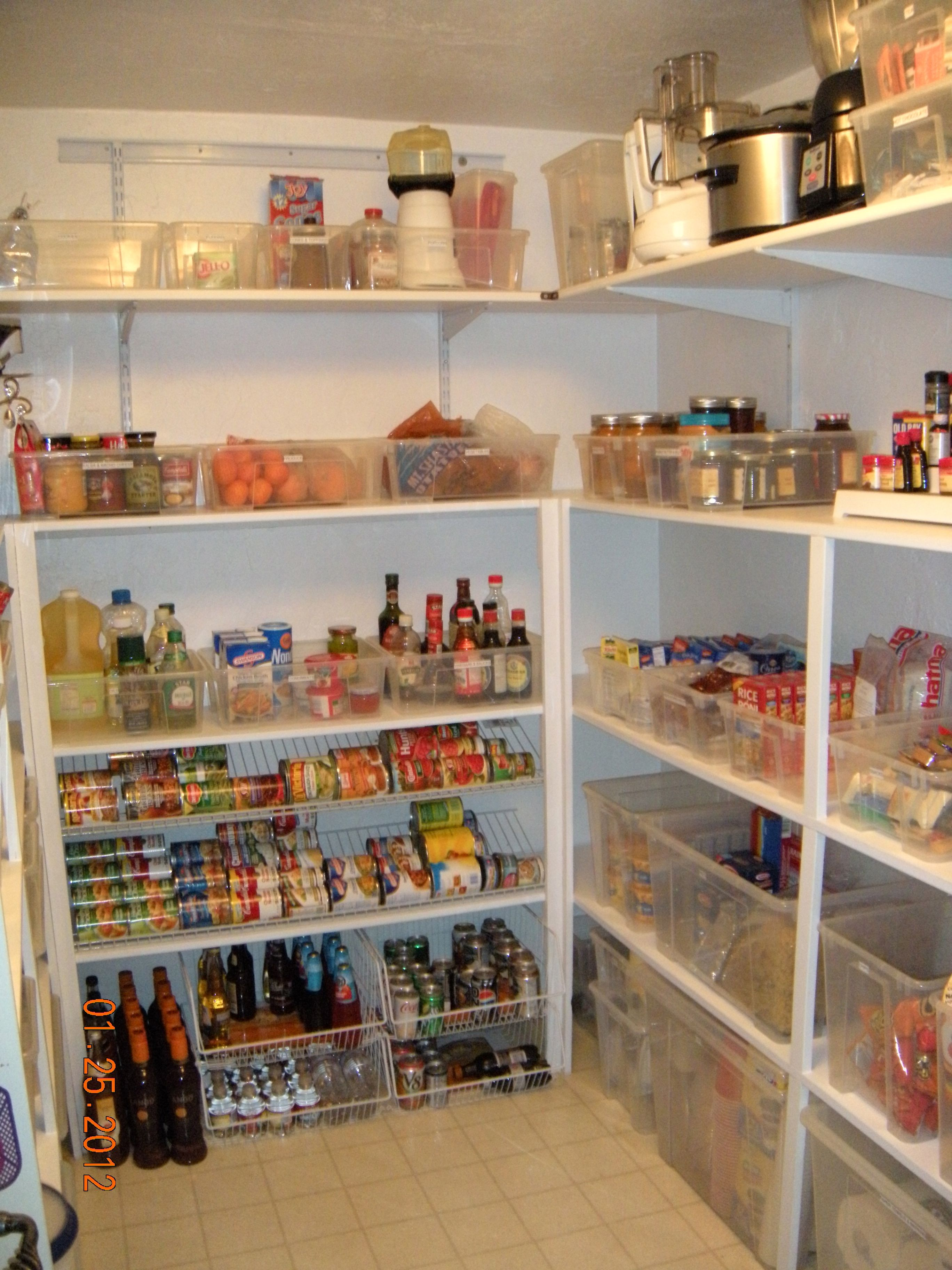 kitchen pantry shelving systems diy cabinet drawers cowan after notice the can dispenser client 39s