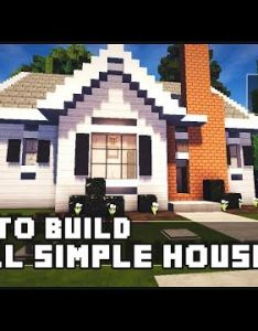 Minecraft house how to build simple small part youtube also rh pinterest