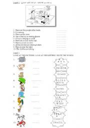 English worksheet: starters yle cambridge exams