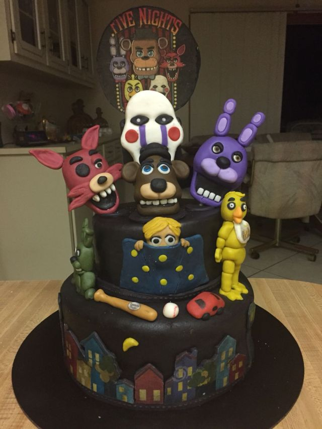 how to make a five nights at freddy's birthday cake
